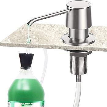 Zalava Soap Dispenser Stainless with Extension Tube Kit