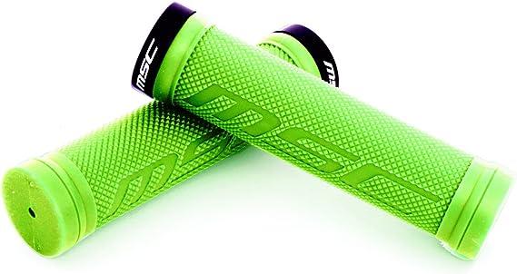 MSC Bikes GRIP01GN Puños blocantes, Verde, 130 mm: Amazon.es: Deportes y aire libre