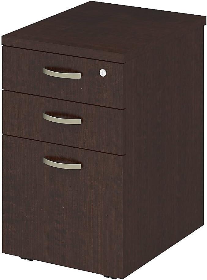 Bush Business Furniture Easy Office 16W Mobile File Cabinet in Mocha Cherry