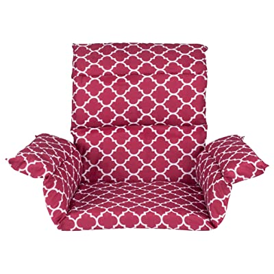 Active Care Comfort Finds Total Chair Cushion - Pressure Reducing Chair Cushion (Geometric Burgundy): Home & Kitchen