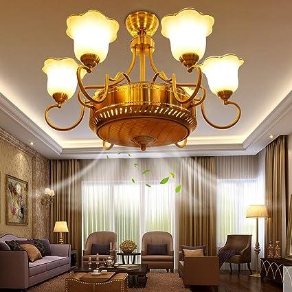 RS Lighting Modern Gold 6-Light Anion Ceiling Fan With Elegant ...