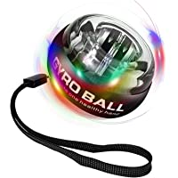 INNOPICS Auto-Start Power Black Wrist Ball, Wrist Strengthener with LED Lights, Forearm Exerciser Grip Strength Trainer…