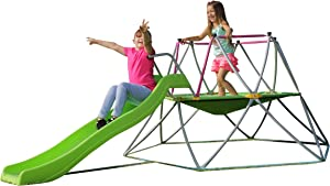 Kids Dome Climber Play Structures - Multiple Kids Jungle Gym Climbing Structure, Activity Center, Outdoor & Indoor Playground, Monkey Bars Climbing Tower - Age 3 - 10 Play Sets - 55 inches Mat