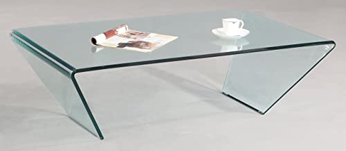 MILAN Lexie Bent Glass Cocktail Table