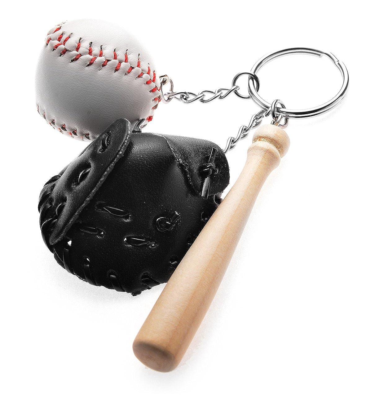 REINDEAR Novelty Baseball Bat Glove Set Pendant Keychain 758182507663