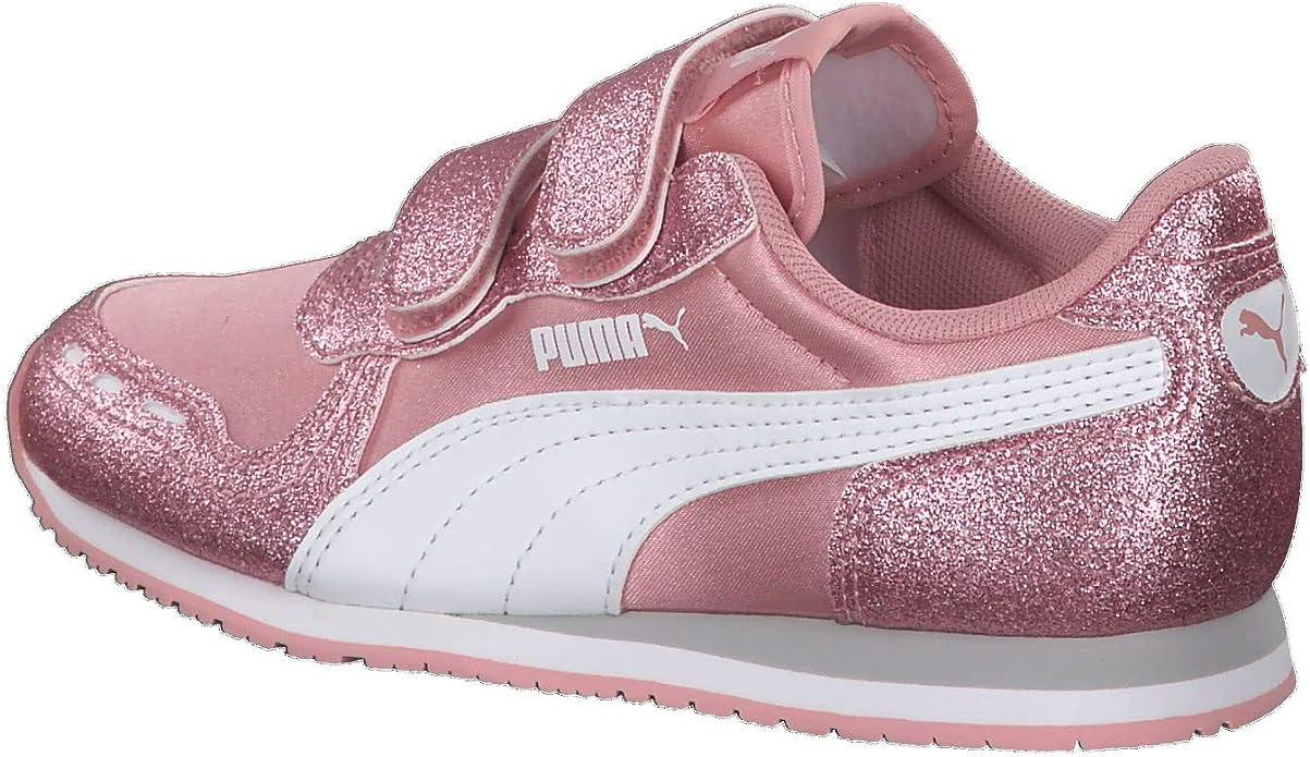 PUMA Cabana Racer Glitz V PS Kids Sneaker Schuhe Mädchen Rosa 370985 02