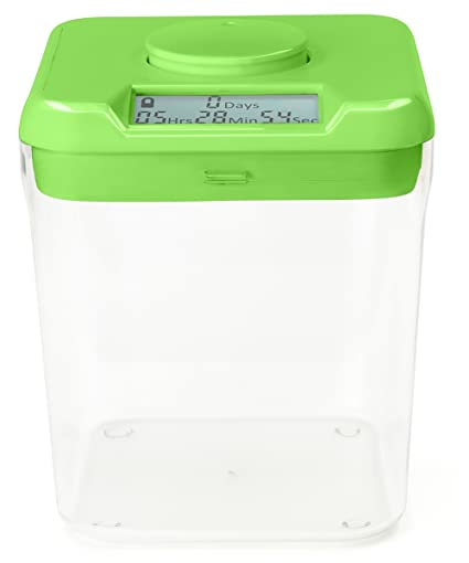 Gentil Kitchen Safe: Time Locking Container (Green Lid + Clear Base)   5.5u0026quot;