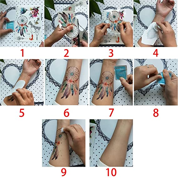 3e04b4d5a51fe 20 Sheets Fake Black Tiny Temporary Tattoo Body Sticker Hand Neck Wrist Art  Fashion: Amazon.co.uk: Beauty