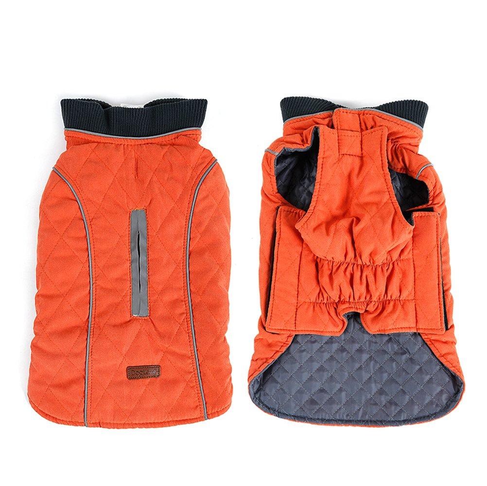 orange XXXL orange XXXL TDC Reflective Dog Jacket Waterproof Comfortable Warm Thicken Dog Coat for Winter X XL XXL Size Dog Clothes