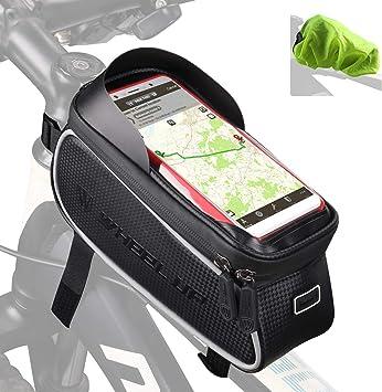 Tricodale Bolsa Bicicleta Cuadro Impermeable Soporte Movil ...