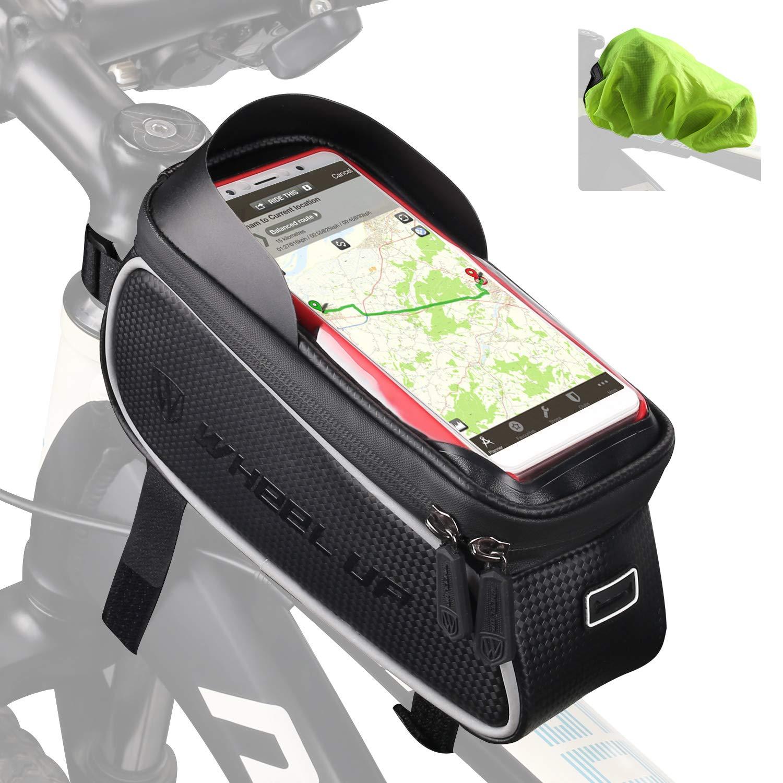 Tricodale Bolsa Bicicleta Cuadro Impermeable Soporte Movil Bicicleta 6.3