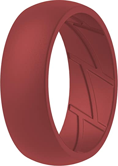 Breathable with Air Flow Grooves ThunderFit Silicone Wedding Ring for Men 2.5mm Thick 10mm Wide