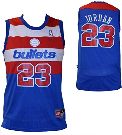 NBA Camiseta de tirantes Michael Jordan – Washington Bullets – Color Azul – Talla XL: Amazon.es: Ropa y accesorios