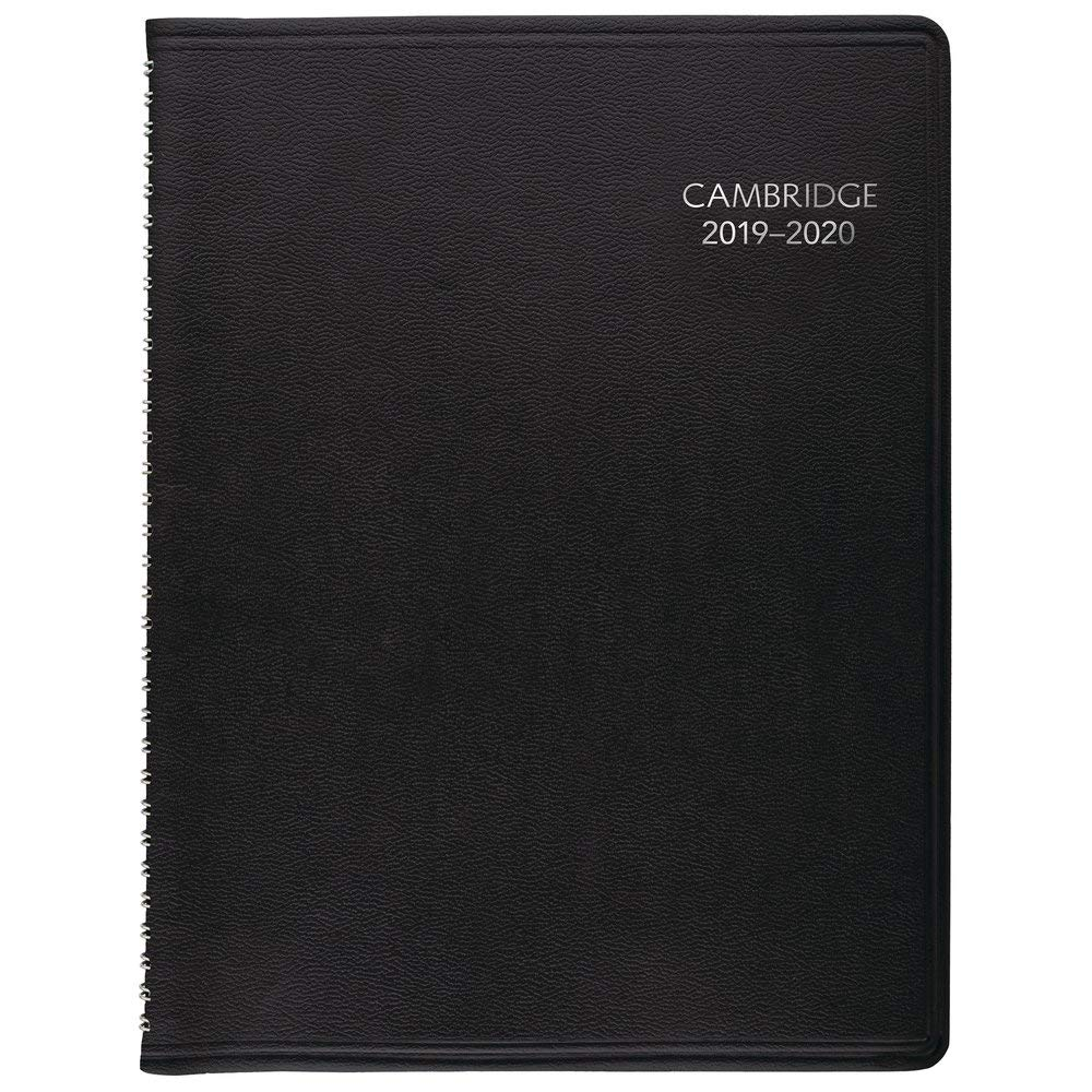 2019-2020 Academic Planner, Cambridge Weekly & Monthly Appointment Book, 8'' x 11'', Large, Business, Black (CAW60205) by Cambridge