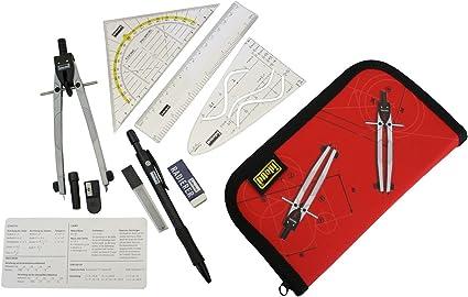 Idena 606220 - Estuche con compás y accesorios (11 piezas): Amazon.es: Oficina y papelería