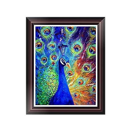 HighflyGao 5D DIY Peacock Diamond Painting Embroidery Cross Stitch Art Craft Wall Decor