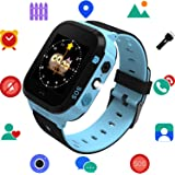 GPS Tracker Smart Kids Watch for Gilrs Boys with Camera Games Phone Call Alarm Clock Anti Lost Reminder Remote Control Learning Toys Compatible with iPhone Android
