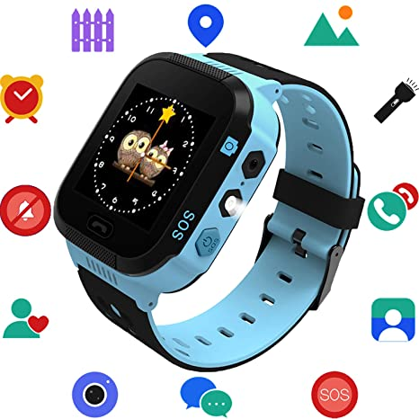 e5e8bfda2 Amazon.com  Kids Smart Watch for Boys Girls - Child Sports Watch Phone  Digital Wrist Armband with Call SOS Camera Flashlight Alarm Clock for  Children Age ...