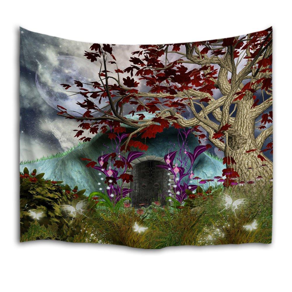 QIYI casa parete appeso natura arte tessuto in poliestere arazzo per dormitorio, camera da letto, soggiorno decorazioni 153cmx102cm-Dandelion HY