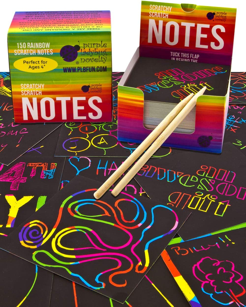 Rainbow Scratch Paper for Kids