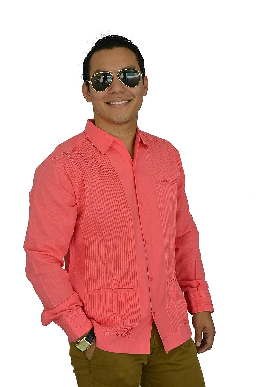 a1cba2892b Camisa Guayabera Yucateca Casual Lino Presidencial Original cfkkprsml16   Amazon.com.mx  Handmade