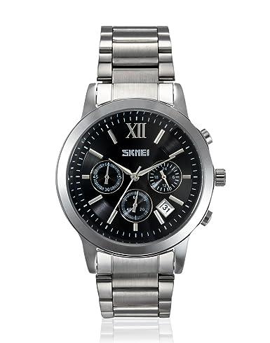 Skmei - Reloj analógico para hombre con esfera de resistencia al agua - 9097Cs: Amazon.es: Relojes