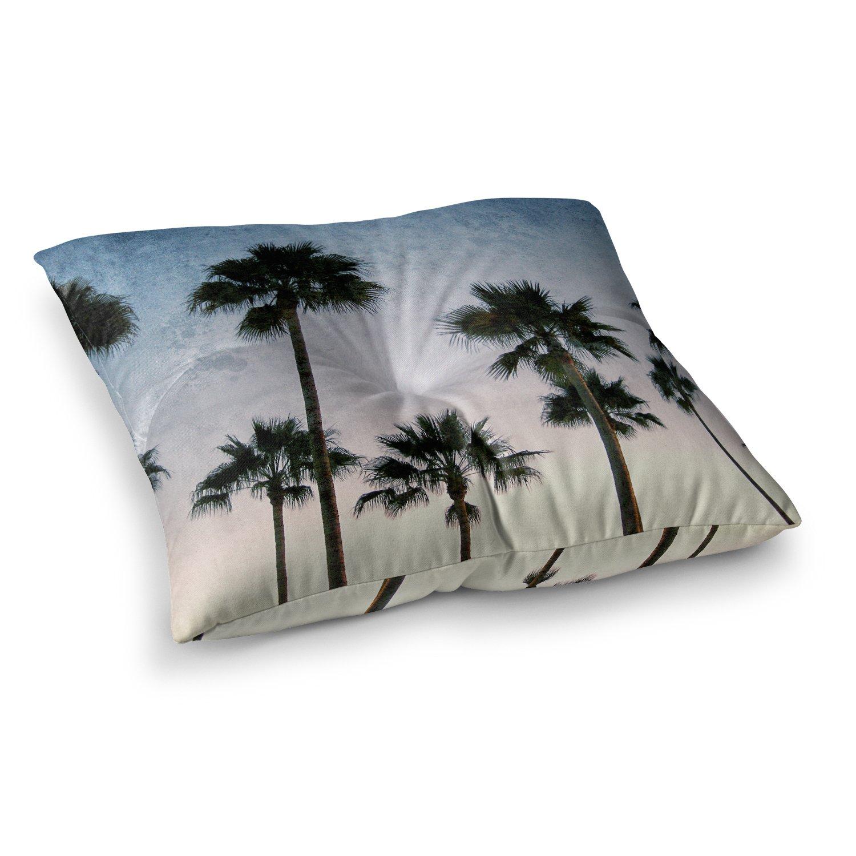 26 x 26 Square Floor Pillow Kess InHouse Richard Casillas Paradise Palms Blue Pink
