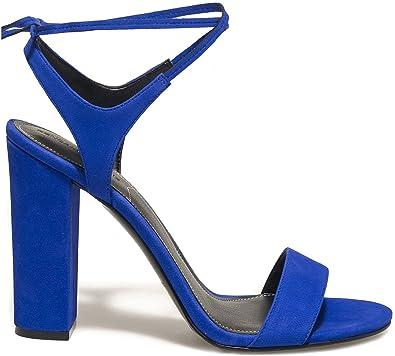 aad1676bae6 Kendall + Kylie Women s Ellery Women s Leather Blue Sandals in Size 38 EU    5 UK Blue  Amazon.co.uk  Shoes   Bags