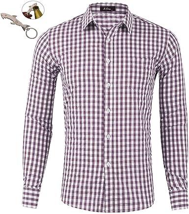 G&Armanis shop Camisa de Hombre Nueva, Camisa de Manga Larga ...