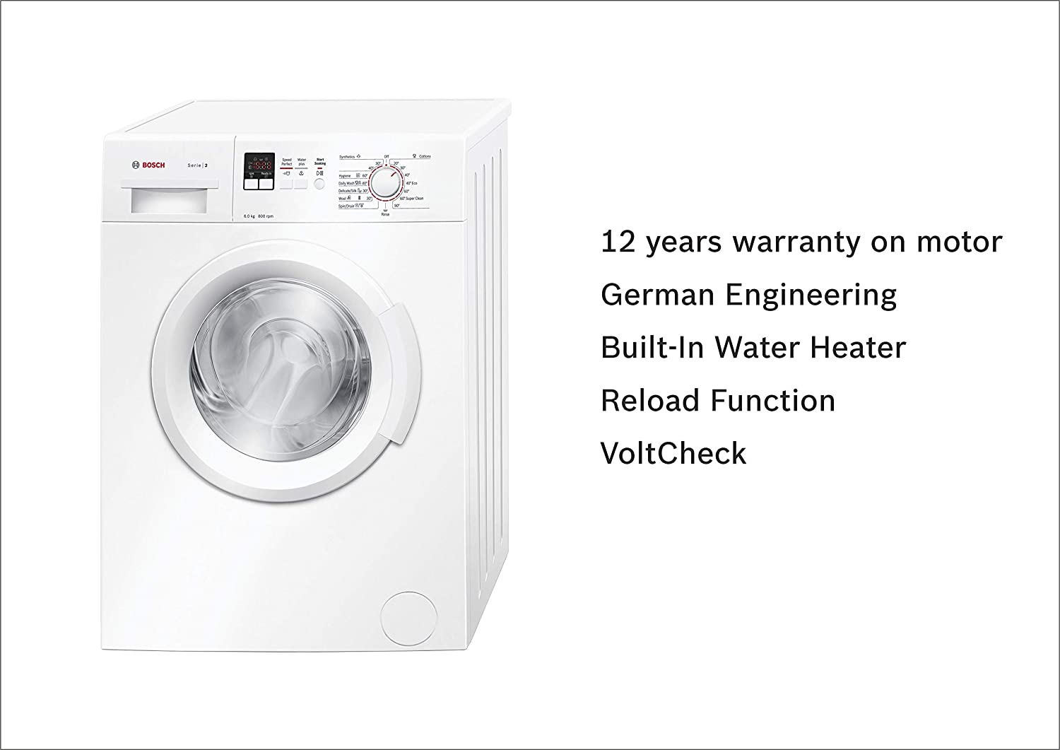 Bosch 6 kg Fully-Automatic Front Loading Washing Machine (WAB16161IN, on