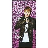 Justin Bieber Pink Leopard Beach Towel