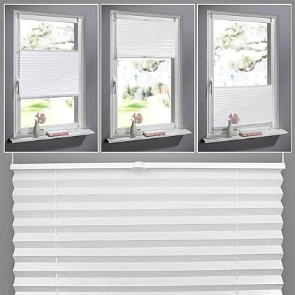 Amazonde Shiny Home Plissee Weiß 60cm Breit Und 130cm Hoch