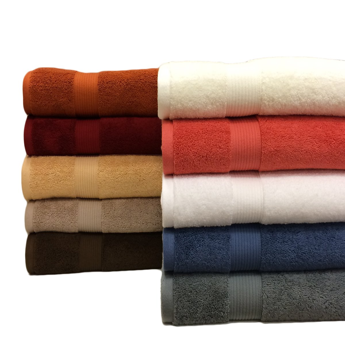 2 Cotton Plush Bath Sheets, Chocolate, Over 1.8lbs. Each