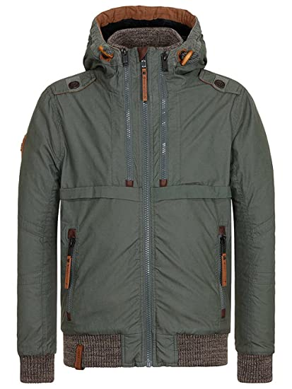 Amazon.com   Naketano Men s Jacket Checked Into Rehab Dark Green, XL ... 227f88c4cf