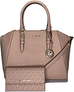 127e60634c9e Michael Kors Ciara Large Satchel bundled with Jet Set Travel Trifold Wallet