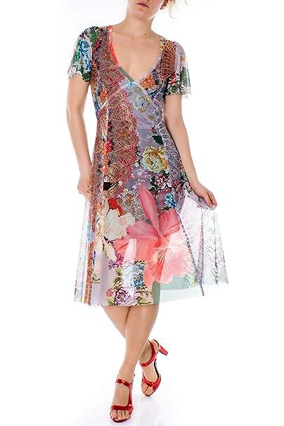 33510c870152 Desigual Vestito Corto Donna Vest Daria 19SWVKA8  Amazon.it  Abbigliamento