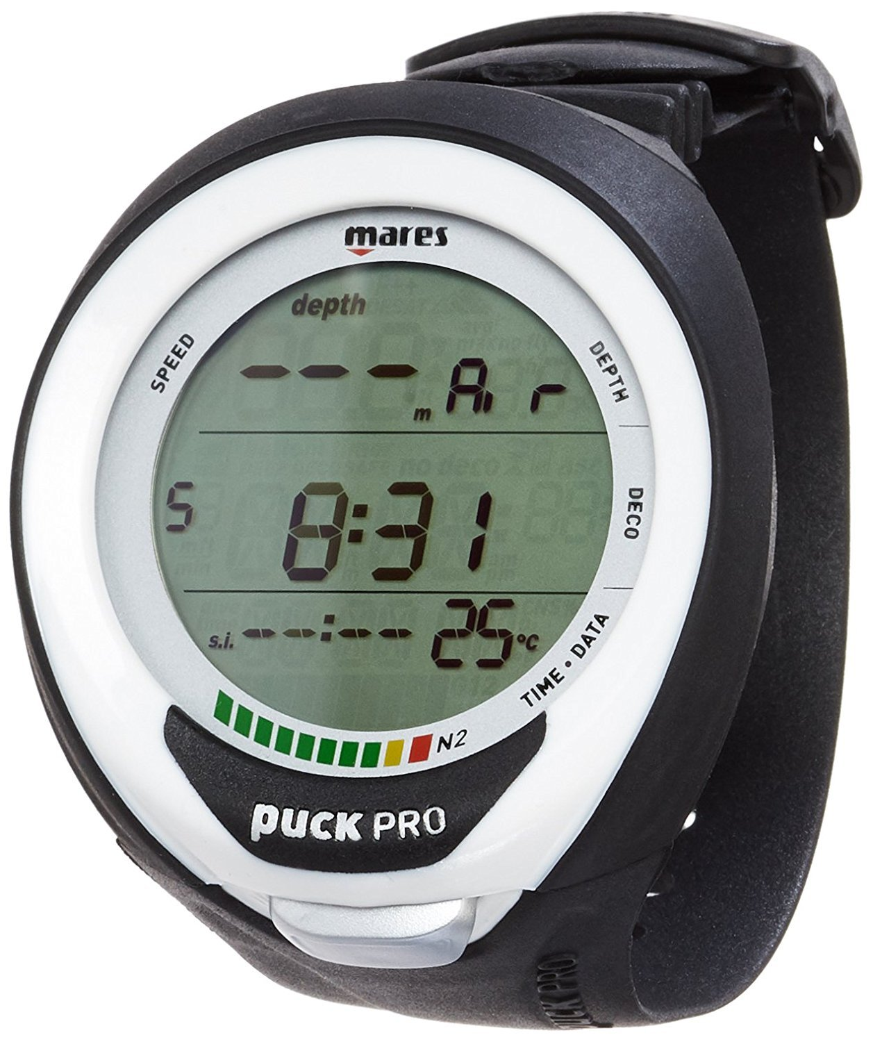 Mares New Puck Pro Plus Black/White by Mares