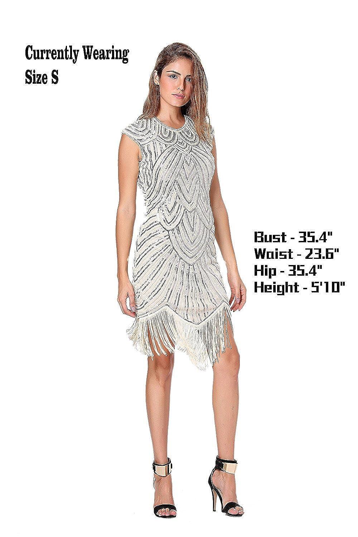 Clothin - Vestido de lentejuelas y flecos para mujer, estilo años 20, estilo «Gran Gatsby».: Amazon.es: Ropa y accesorios