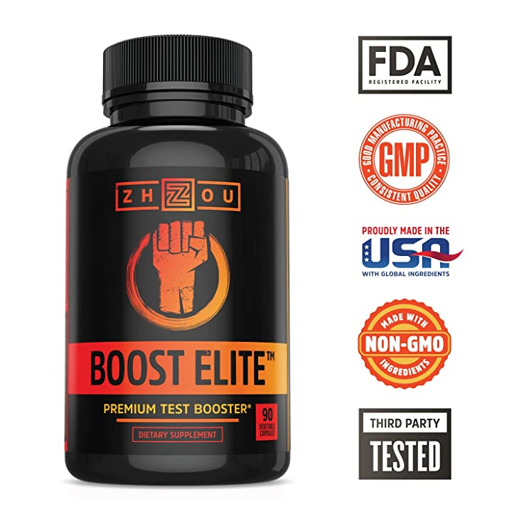 BOOST ELITE Test Booster with Tribulus - T-Level, Vitality & Energy Formula