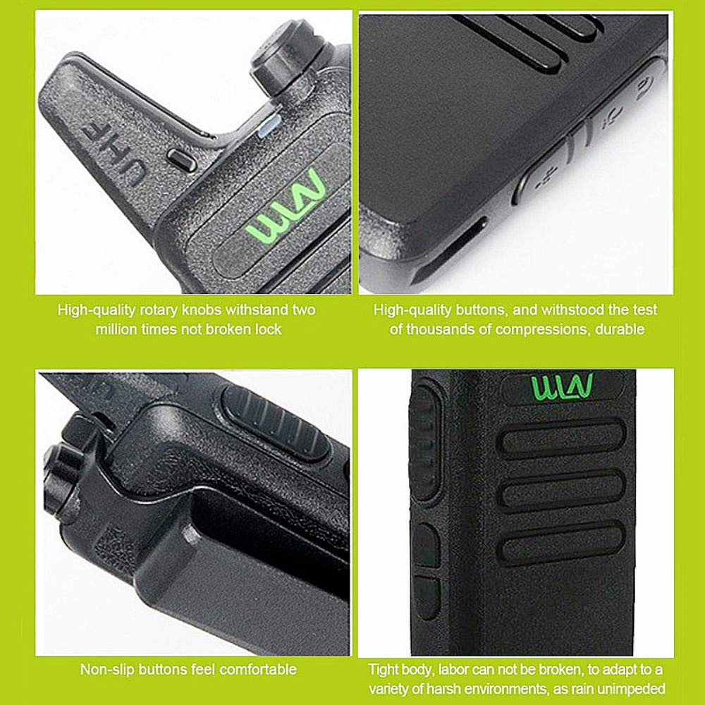Xixou 1pc Wireless Portable Device WLN KD-C1 Small walkie-Talkie UHF400-470 MHz Communication walkie-Talkie Handheld CB HF Amateur Radio transceiver (1pc) by Xixou (Image #5)