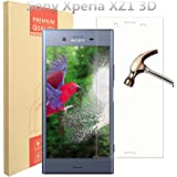 Sony Xperia XZ1 3D Full Coverage Screen Protector, PULEN 0.3MM Slim 9H Hardness Tempered Glass [Anti-Scratch] [Bubble Free] Extreme Hardness Lifetime Replacement Warranty for Xperia XZ1 (transparent)