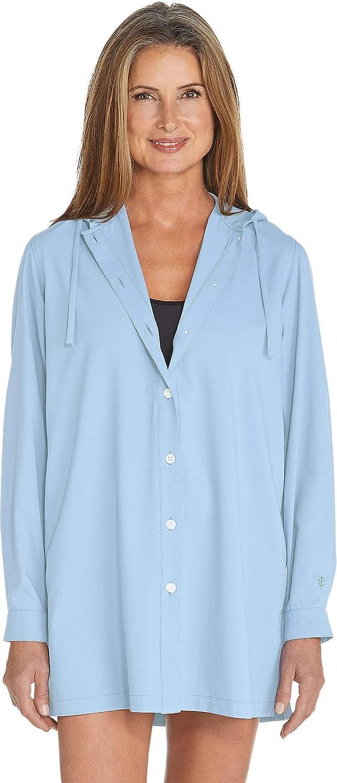 Light bluee Coolibar UPF 50+ Women's Beach Shirt  Sun Predective