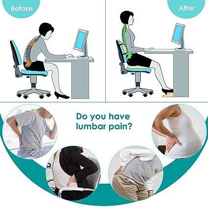 Amazon.com: Cojín lumbar, respaldo ortopédico de espuma ...