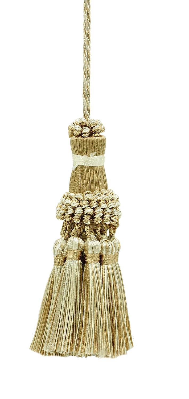 DecoPro Elegant Ivory, Light Beige Key Tassel/4 Inch tassel, 3.5 Inch Loop Style# NKT - White Sands 4001