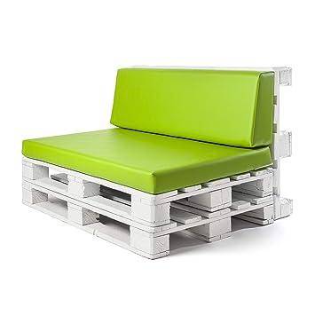 Conjunto colchoneta para sofas de palet y respaldo Verde Pistacho (1 x Unidad) Cojin relleno con espuma. | Cojines para chill out, interior y ...