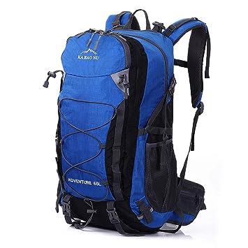 Mooedcoe 65L Mochila Hombre Senderismo Impermeable Mochilas de Marcha Tactica Viaje Trekking Acampada (Azul): Amazon.es: Deportes y aire libre