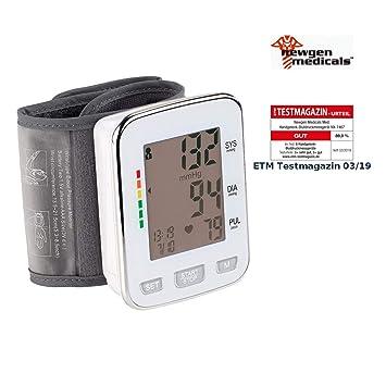 Tensiómetro de muñeca, XL de pantalla, 2 x 60 puestos de memoria (Tensiómetro de dispositivo): Amazon.es: Salud y cuidado personal