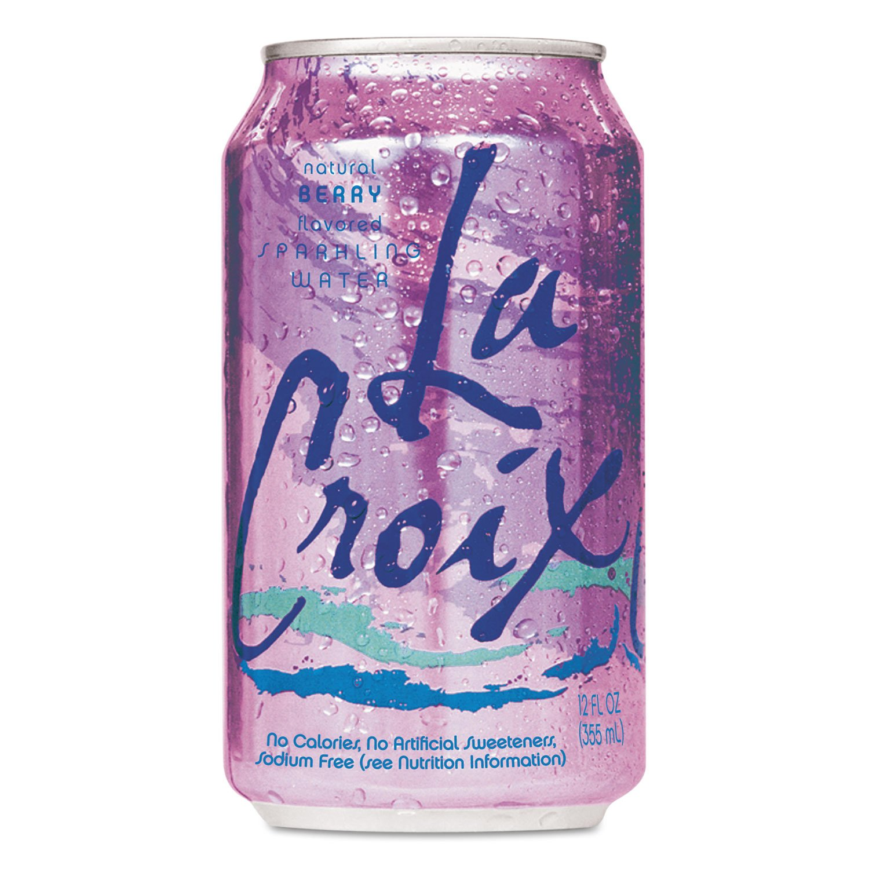 La Croix Sparkling Water Berry, 12 oz (24 Cans)