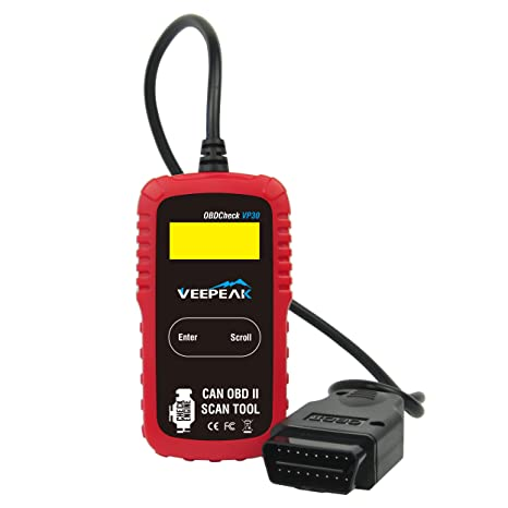 Veepeak OBD2 Scanner Automotive OBD II Diagnostic Scan Tool Code Reader for  Check Engine Light, Read & Clear Trouble Codes for OBD II/EOBD Compliant