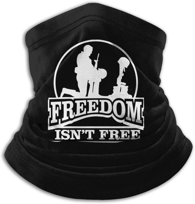 Fsrkje Freedom Isn't Free Cubierta facial unisex Microfibra Calentador de cuello Calentador de cuello Pañuelo negro Pasamontañas